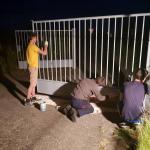Jugend in Oschatz repariert die Zauntore