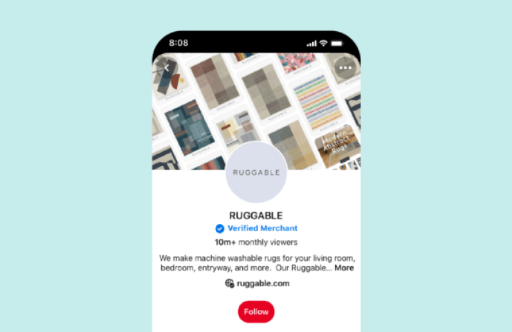 pinterest badge bleu