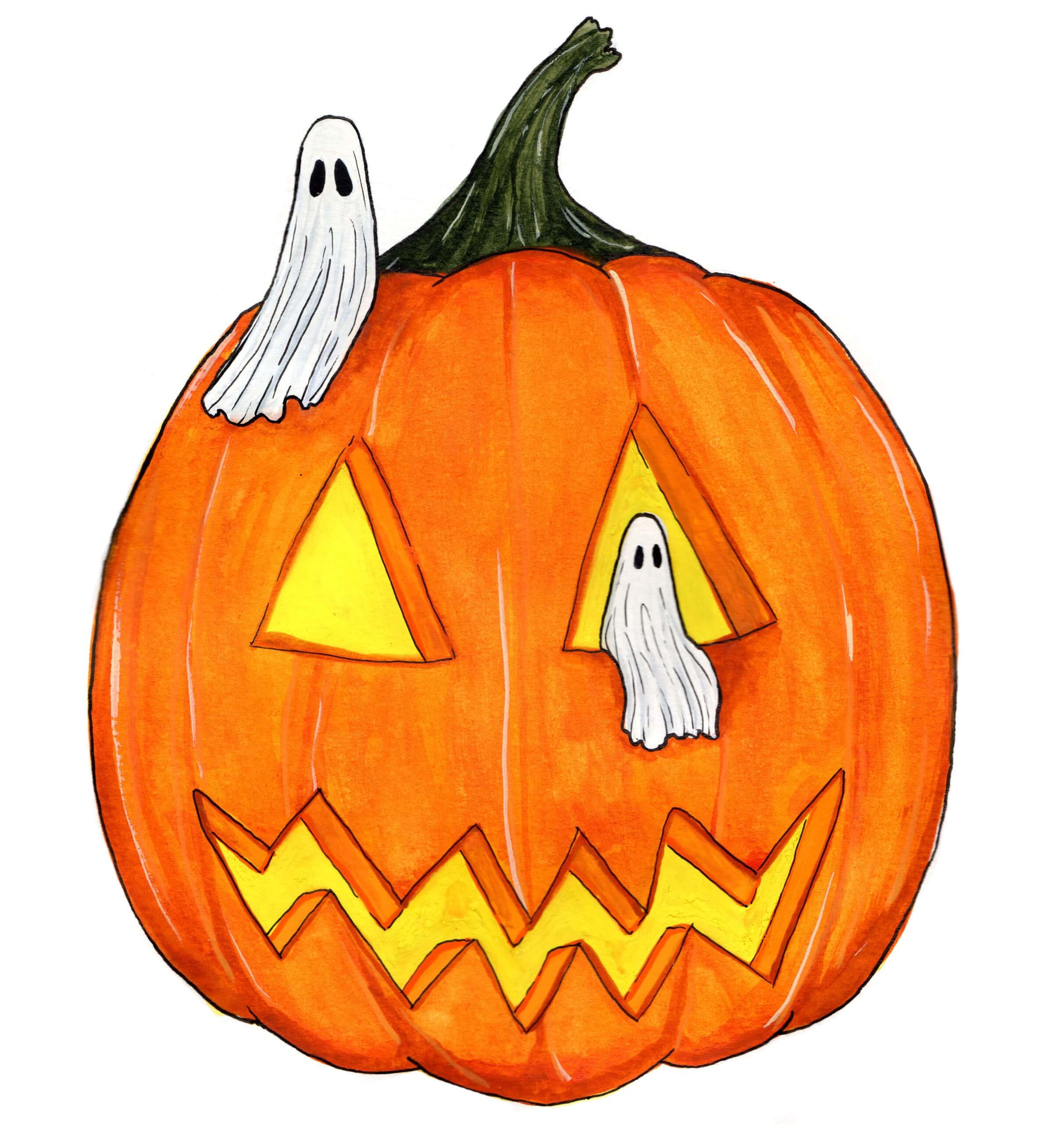 Little Pumpkin Ghosts