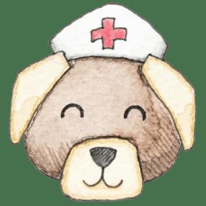 Hund_Krankenschwester_transparenter Hintergrund_Aram und Abra