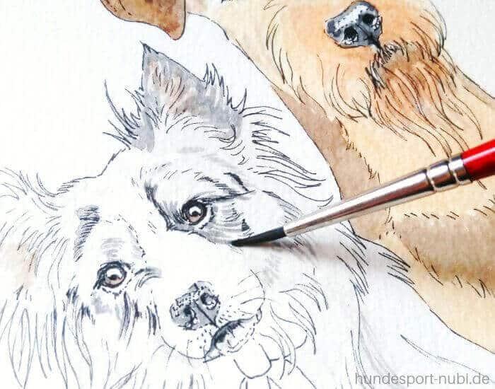 Weihnachtskarte - Hundesport Nubi - Onlineshop für aktive Hunde (1)