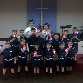 "Caedmon and his Boys Brigade ""anchors"" group on Mother's Day"