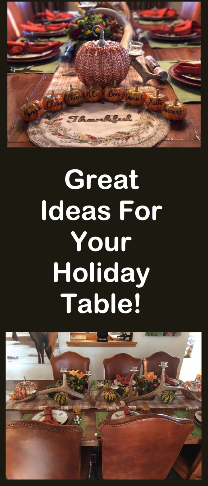 Great Pumpkin Ideas For Your Holiday Table