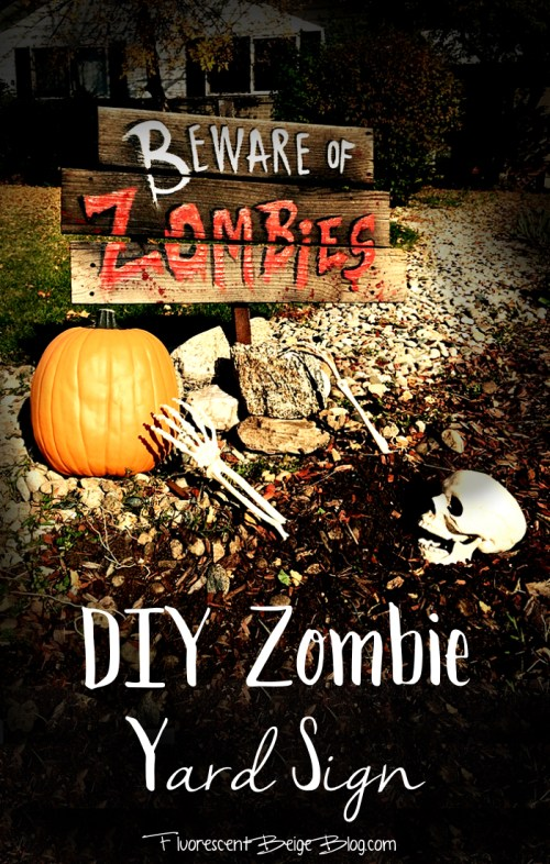 DIY Zombie Yard Sign
