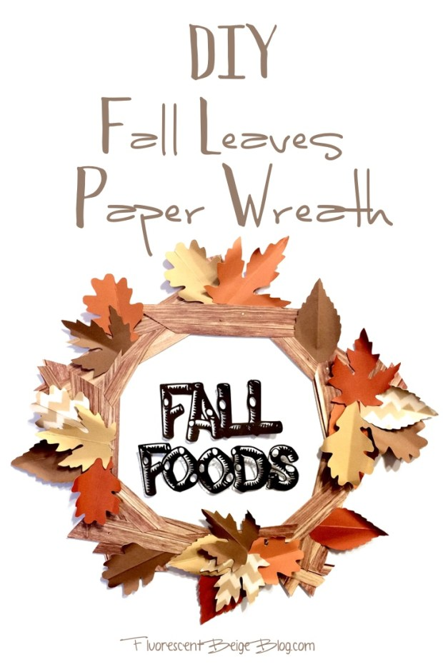 DIY Fall Leaves Paper Wreath