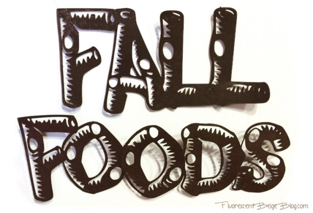 Fall Foods Papercut Font