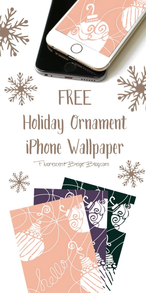 Free Holiday Ornament iPhone Wallpapers