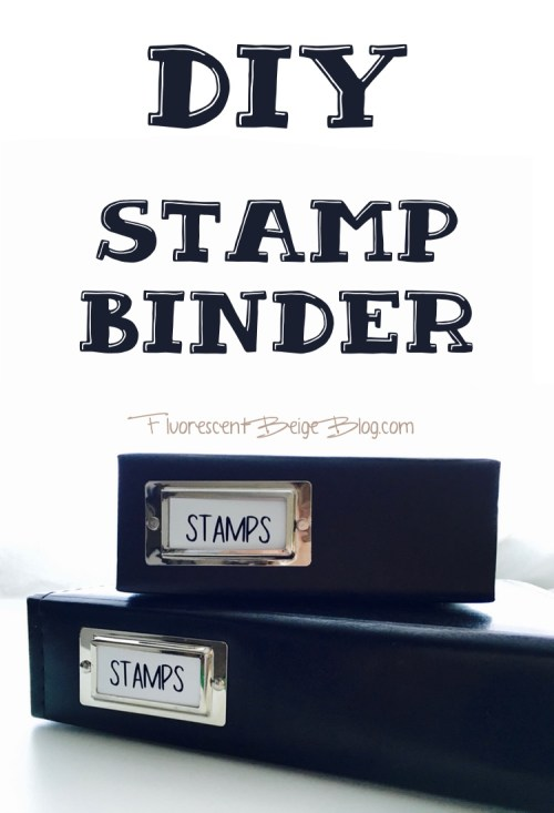DIY Stamp Binder Fluorescent Beige Blog