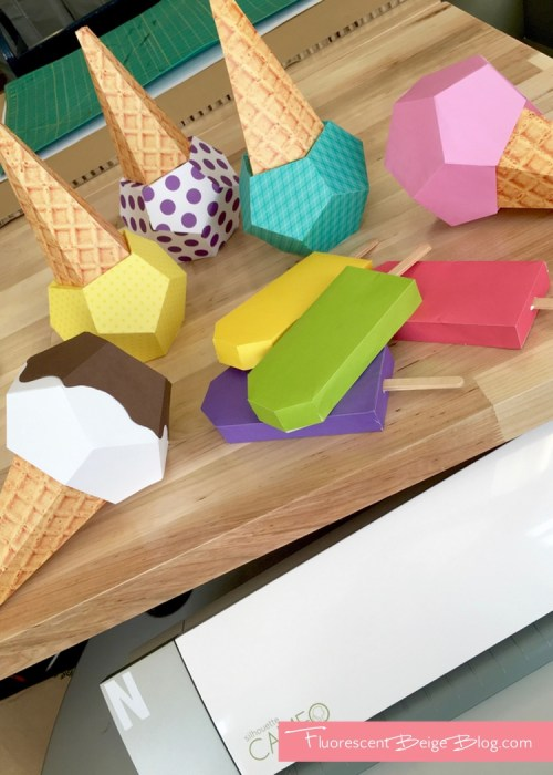 Ice Cream Assembly Paper Ice Cream Cones