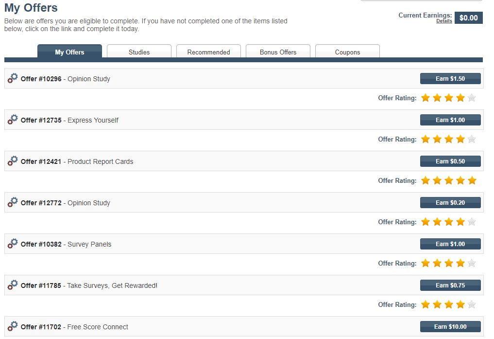 Minds Pay- Survey site