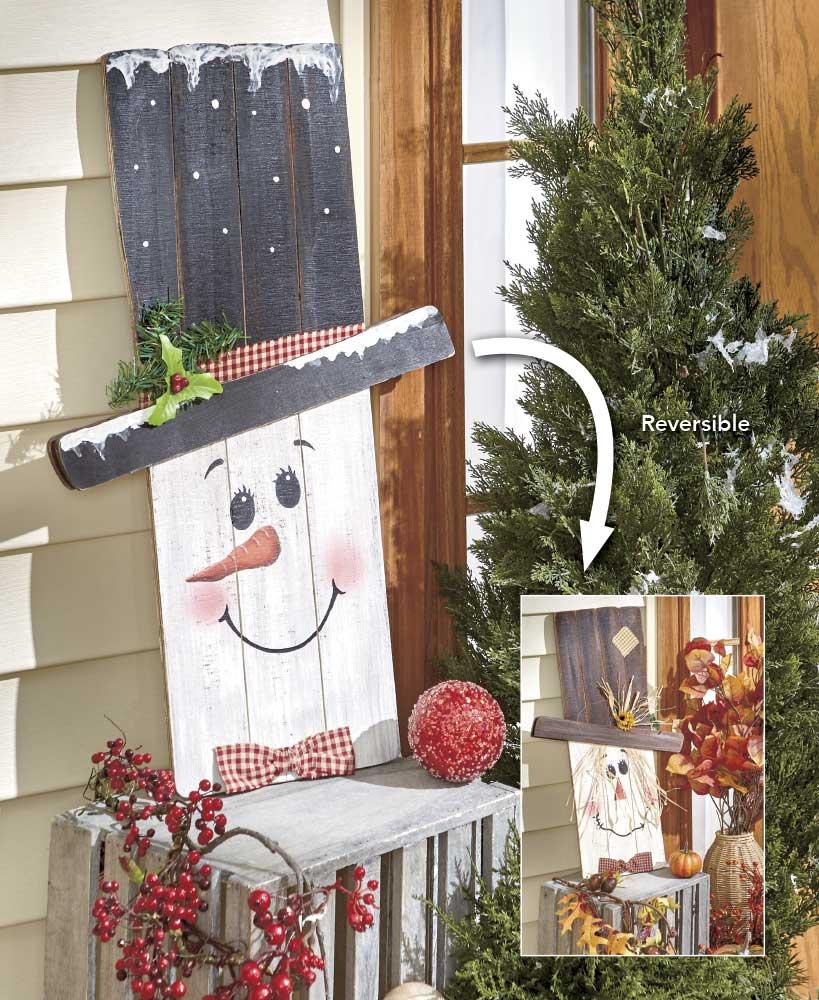 Country Christmas Reversible Seasonal Greeter