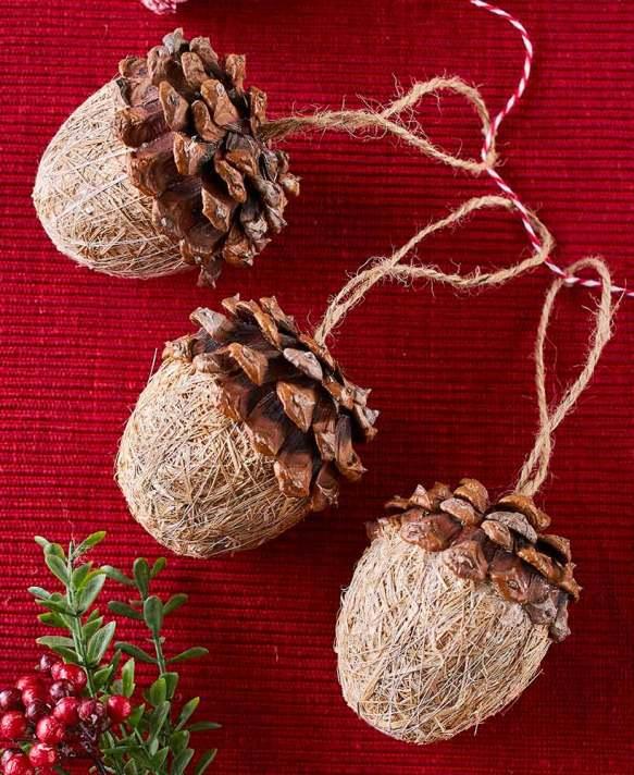 Set of 3 Acorn Ornaments