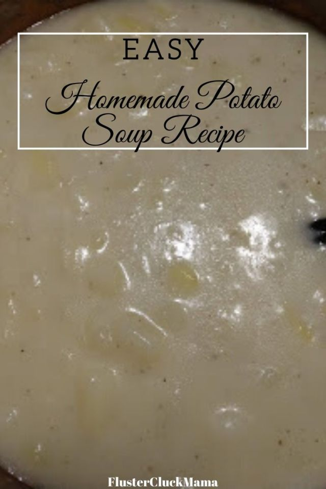 Easy Homemade Potato Soup Recipe