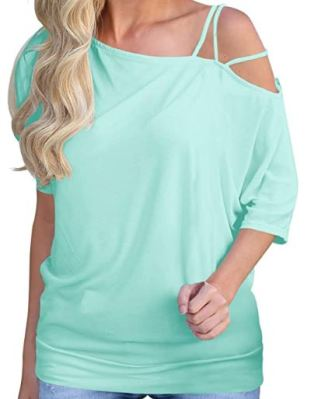 Off Shoulder Strappy Tee