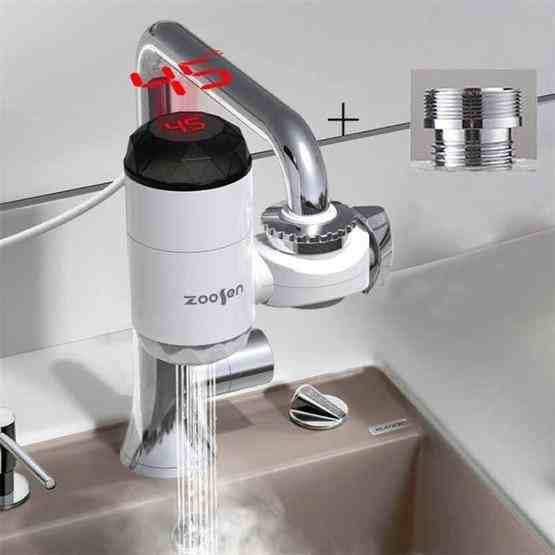 zoosen electric hot water faucet connection type instant hot water faucet eu plug style with shower head connector