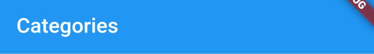 AppBar  widget
