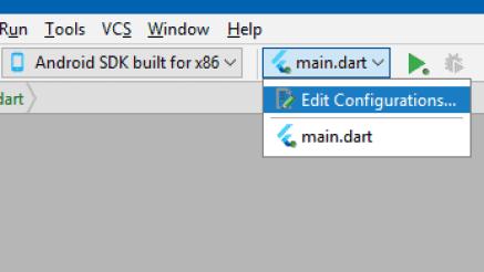 Run Configuration Flutter