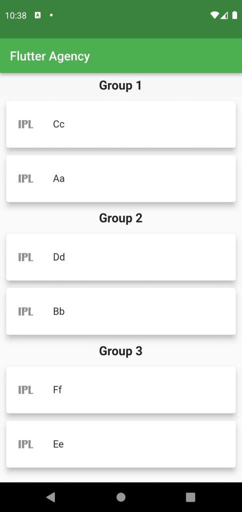 Output Grouped List