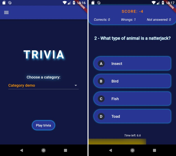 A simple trivia game built with Flutter and the frideos package