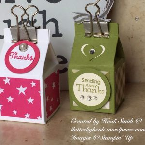 Ferrero Friday Tiny Milk Carton Stampin Up UK