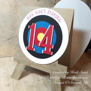 Masculine Archery Card by Stampin Up Demonstrator Heidi Smith Flutterbyheidi