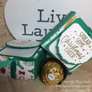 Ferrero Friday fold flat box by Heidi Smith Flutterbyheidi Stampin Up U.K. Demonstrator