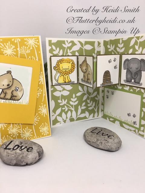 A little wild pop out inner card by Flutterbyheidi