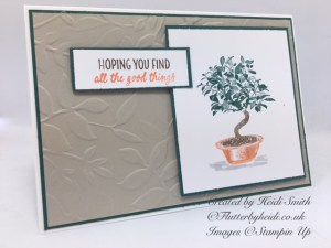 All things thanks Quick Bonsai Card by Flutterbyheidi