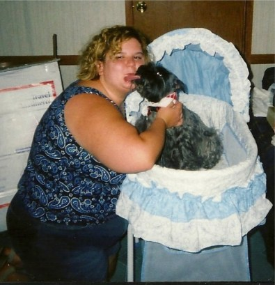This is my dog Missy and I. I think I was around 23 in this picture.