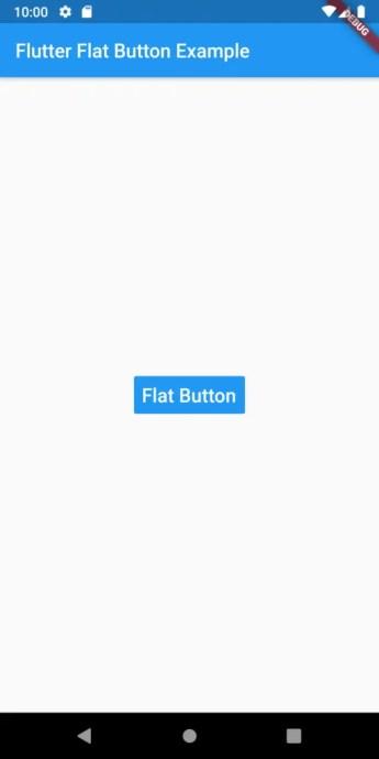 flat button flutter