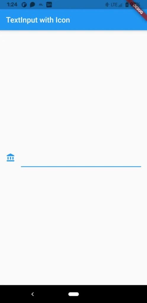 flutter textfield icon