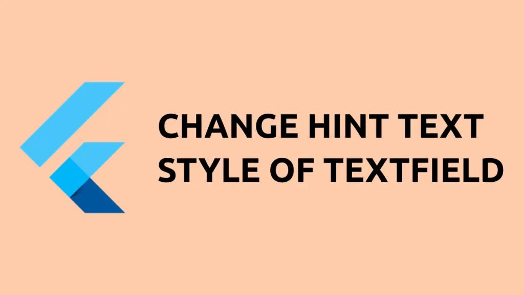 flutter hint text style