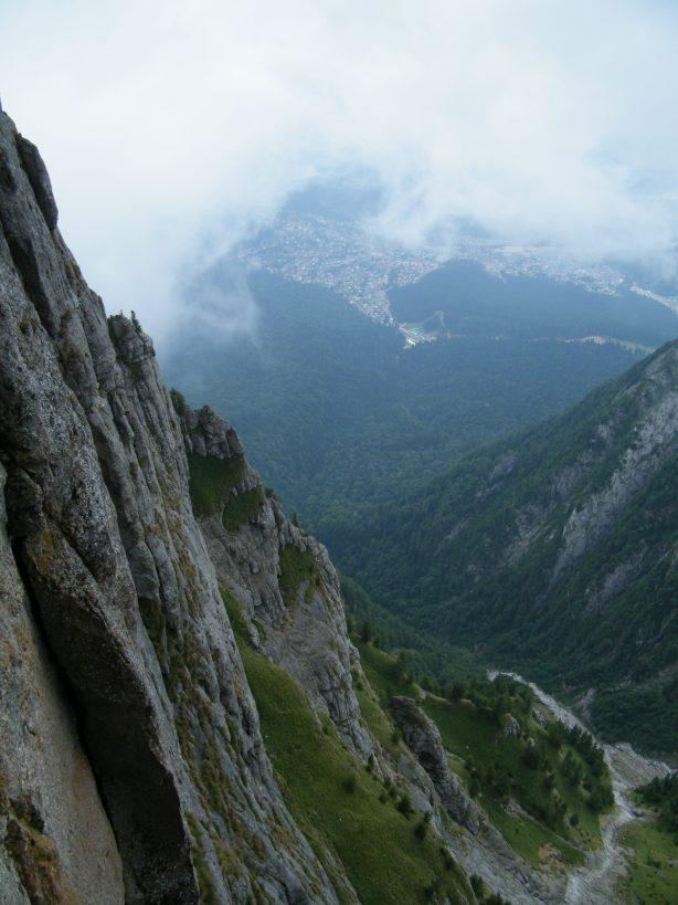 poză din traseul Fisura Albastră, Bucegi