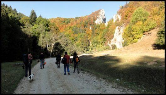 alpinism in Cheile Rasnoavei, Romania