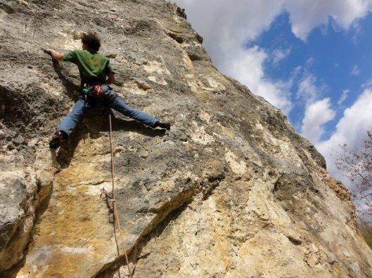 escaladă în Bassarbovo, Bulgaria