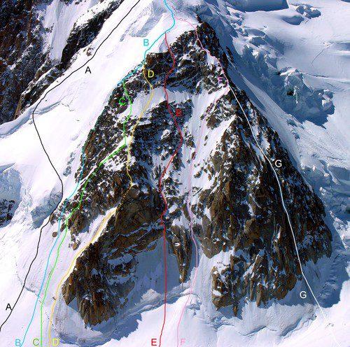 traseu de alpinism, culoar de gheata Alpi