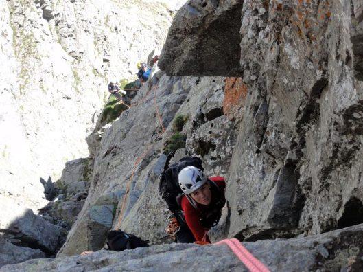 cățărare la granit, aiguilles rouges