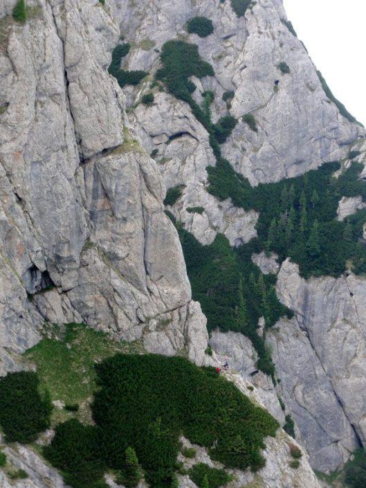 traseul fisura suspendata, peretele vulturilor