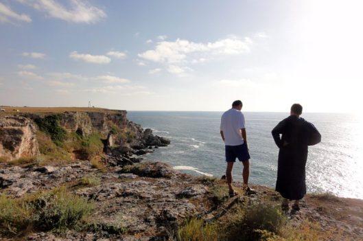 faleze de escaladă lângă mare, Tyulenovo