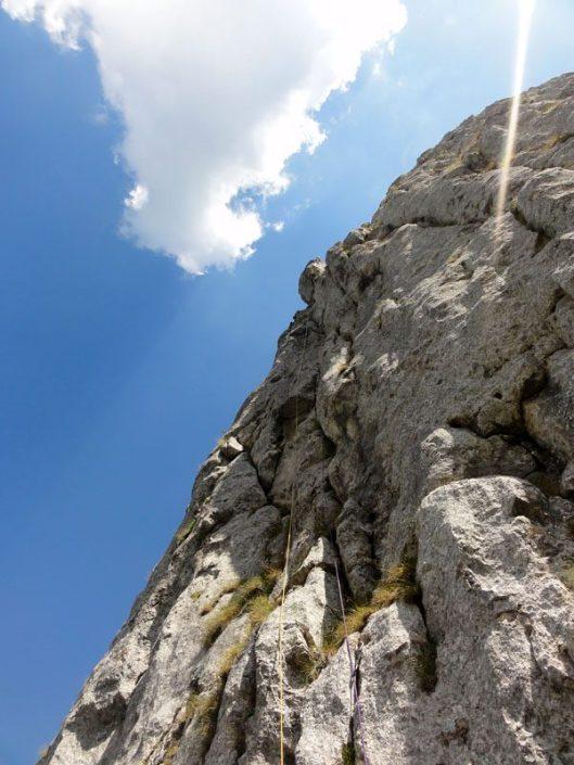 traseul izvor, alpinism în padina Închisă