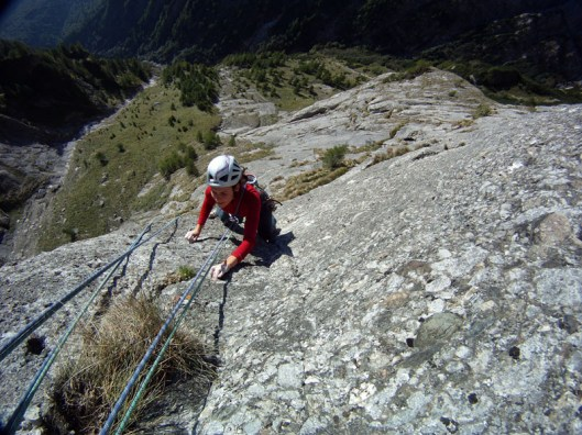 alpinism perete valea alba_climbing in Carpathian Mountains