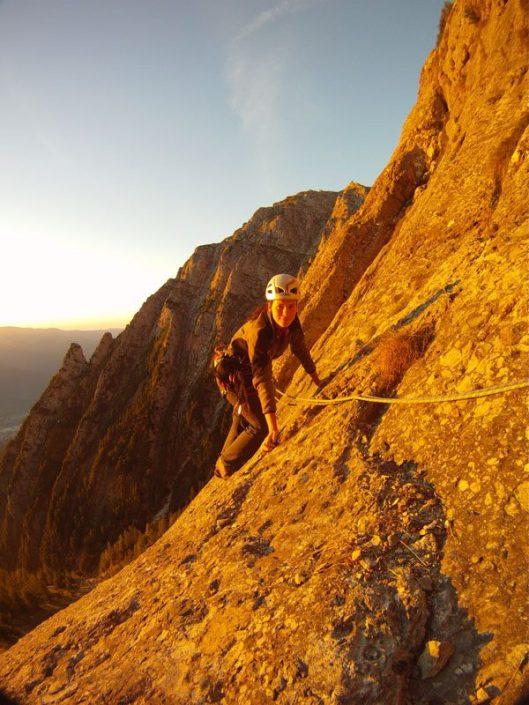 multi-pitch climbing in Romania, alpinism Bucegi