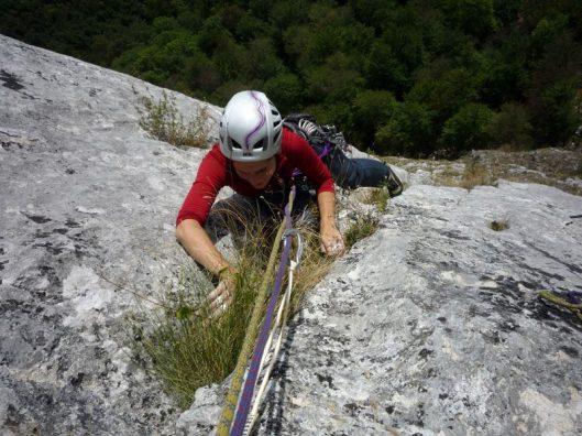 Catrinel climbing route Romania