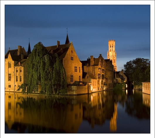 Bruges blue hour photo