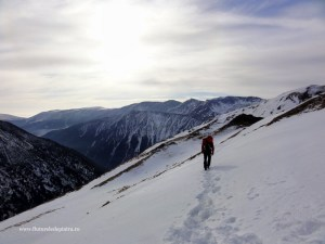 coltul balaceni iarna, muchia nord-vestica