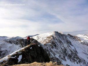 varful coltul balaceni iarna, alpinism