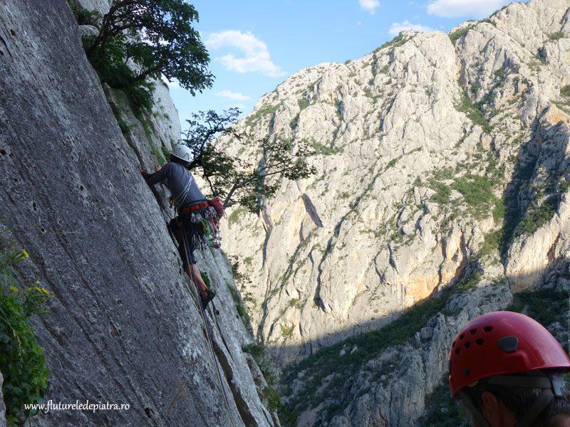 climbing Klin route, anika kuk