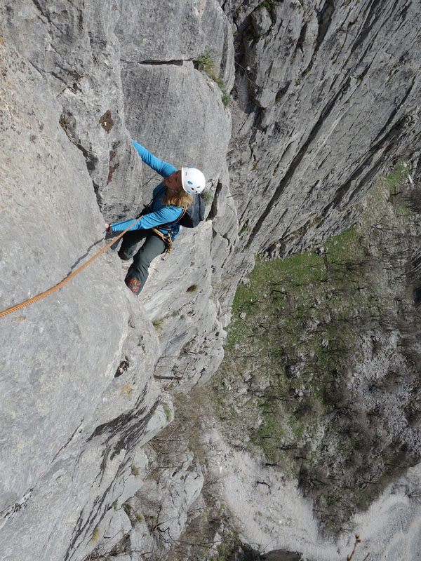 climbing in vratsa, bulgaria, central wall