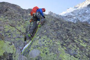 Cosmin Andron pe Frendo Spur, Alpi
