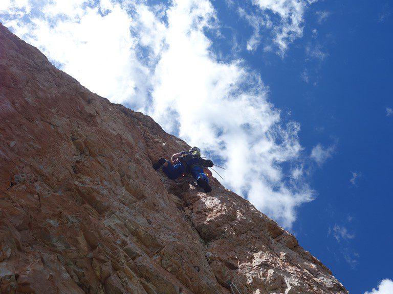 traseul directa lui dimai, cinque torri, dolomiti alpinism